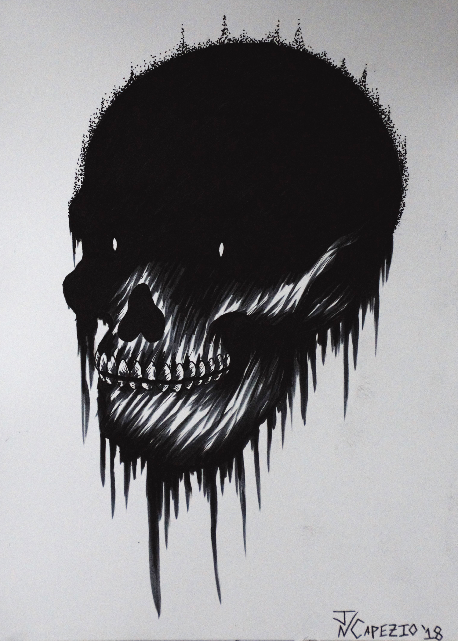 Skull Ink Illustration