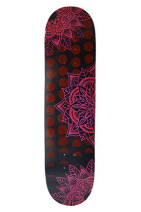 Mandala on Skateboard
