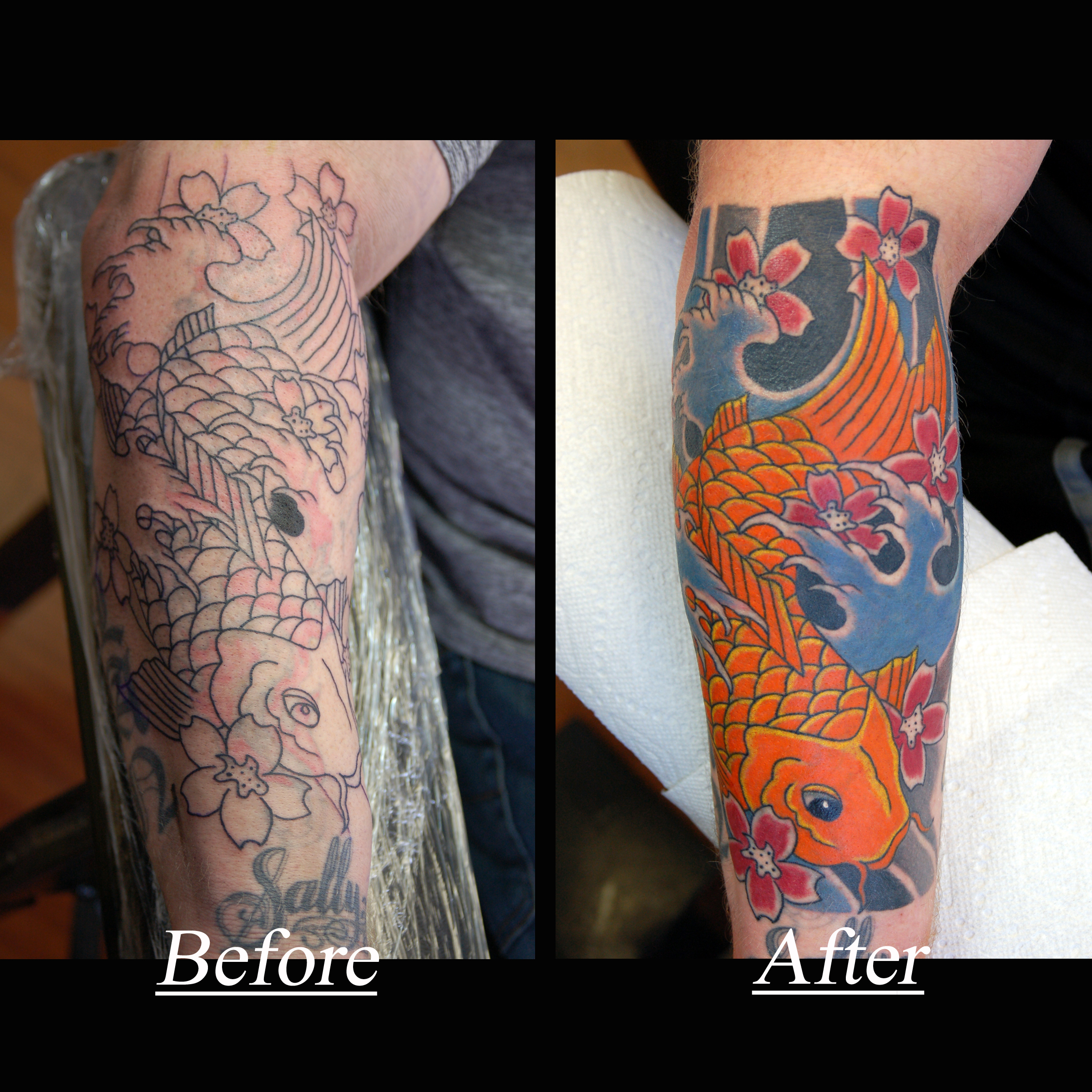 Koi Fish Cover Up