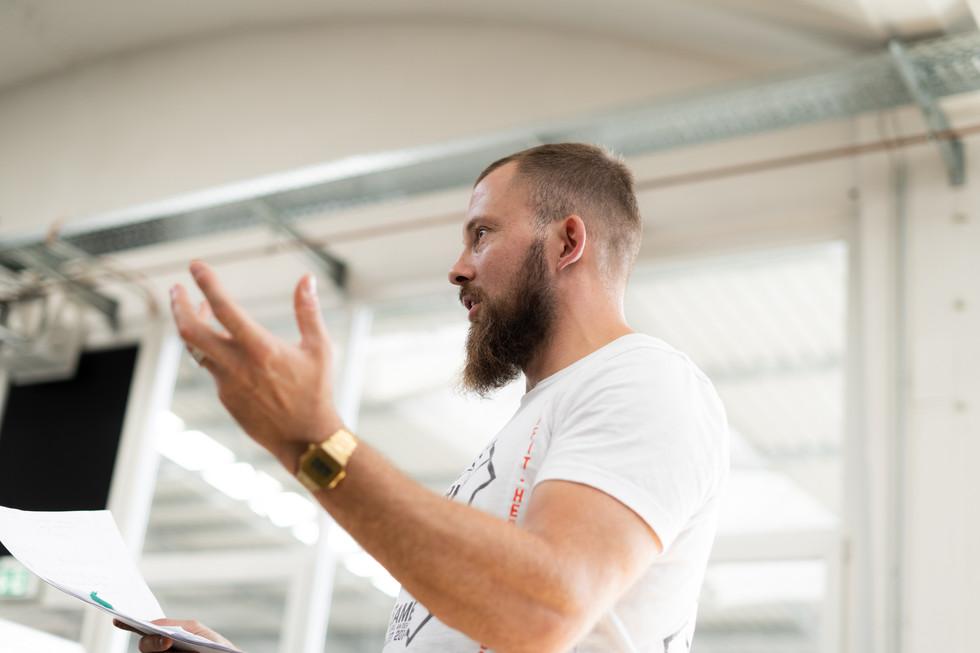 Ansprache Inhaber der CrossFit Schmiede Kassel