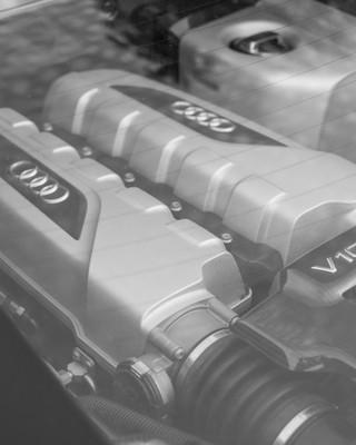 Motoransicht Audi R8 V10