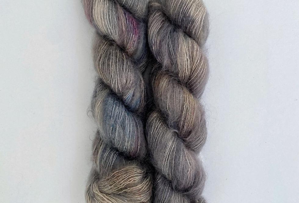 Grey Semiprecious - Mohair Silk Fluff