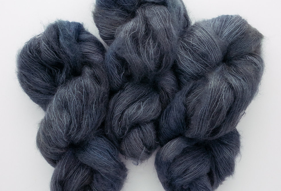 Dark Shallows - Mohair Silk Fluff