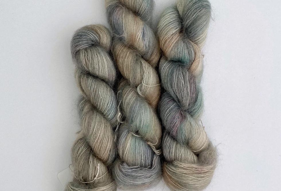 OOAK Minty Semiprecious - Mohair Silk Fluff