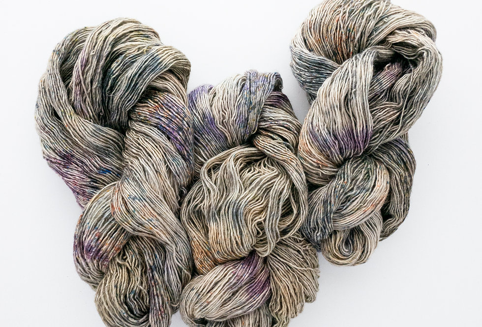 Semiprecious (Purple Pop!) - Merino/Linen Singles