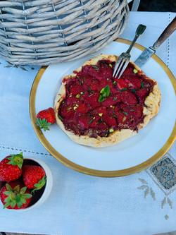 tarte fraises à l'ancienne