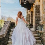 ivory wedding dress, custom wedding dress, bespoke wedding dress, unique wedding dress, corset wedding dress