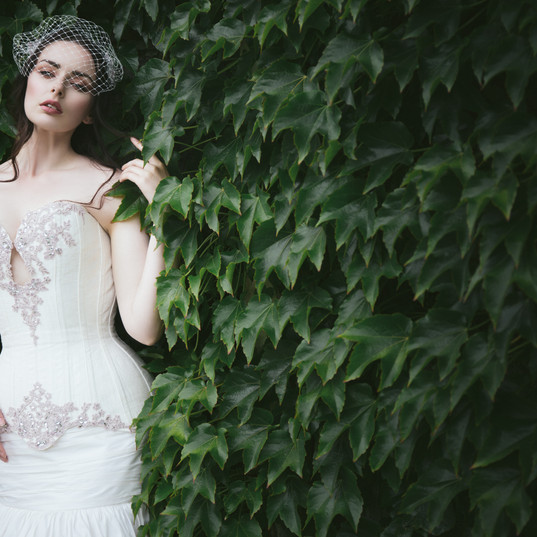 ivory wedding dress, custom wedding dress, bespoke wedding dress, unique wedding dress, corset wedding dress