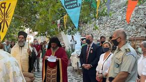 Στην Τήλο παρευρέθηκε ο Ιωάννης Παππάς για τον εορτασμό του Πολιούχου της, Άγιο Παντελεήμονα.