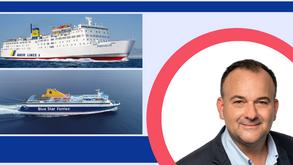 """Ιωάννης Παππάς: Το δρομολόγιο του """"Πρέβελης"""" θα πραγματοποιείται από Τρίτη με το Blue Star """"Chios""""."""