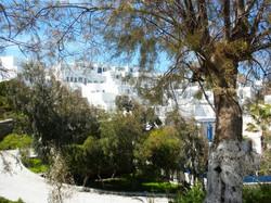 Small white houses