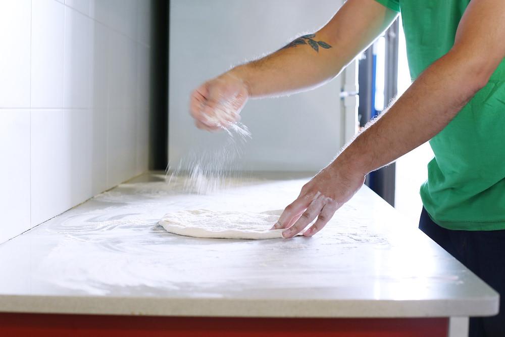 Let me add a tiny amount of flour...