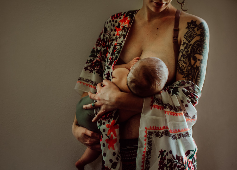 in home newborn lifestyle session | elkhorn, wi