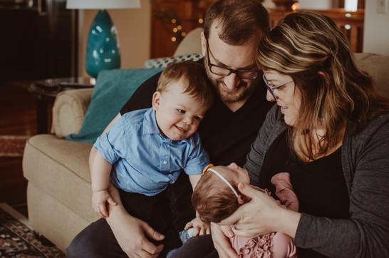 in home family/newborn photography | burlington, wi