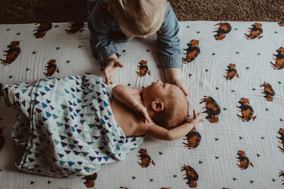 in home newborn lifestyle photography | burlington, wi
