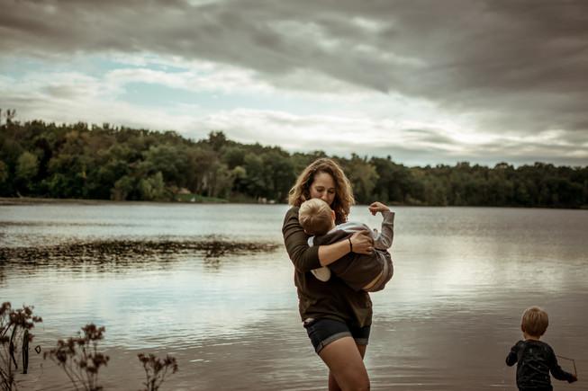 moody motherhood portrait | elkhorn, wi