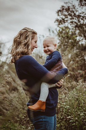 moody motherhood portrait in | waterford, wi