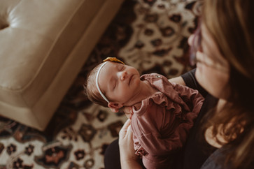 in home lifestyle newborn photography session | burlington, wi
