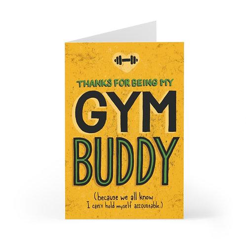 Gym Buddy Greeting Card Pack