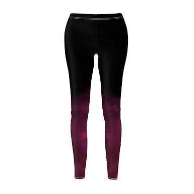 Starry Violet Gradient Leggings