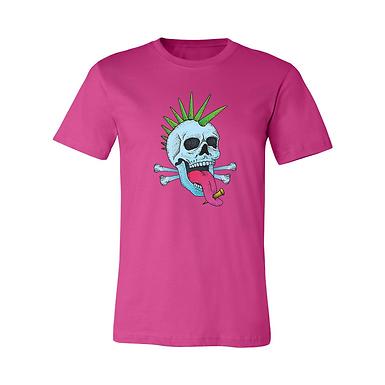 Punk Neon Skull Pink Tee