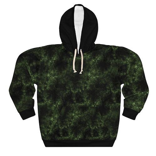 Dark Green Acid Hoodie