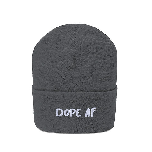 Dope AF Embroidered Beanie