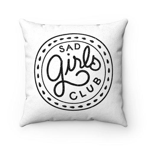 Sad Girls Club White Pillow