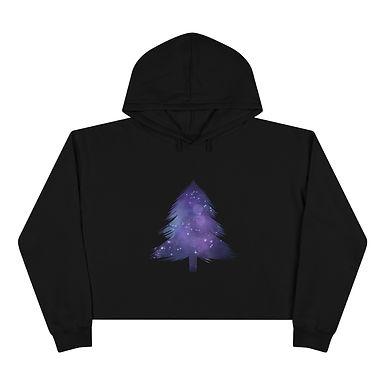 Galaxy Pine Crop Hoodie