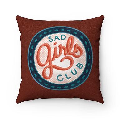 Sad Girls Club Color Pillow