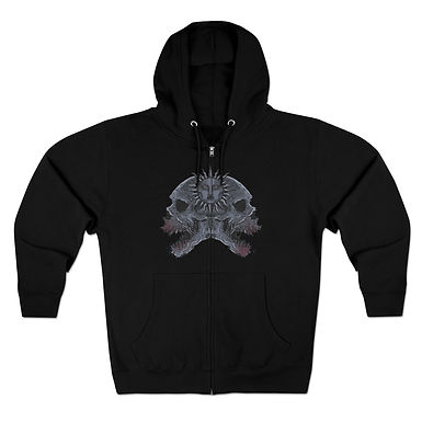 Occult Skulls Zipper Hoodie