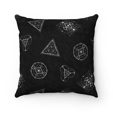 Sacred Geometry Suede Pillow