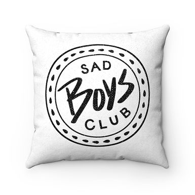 Sad Boys Club White Pillow