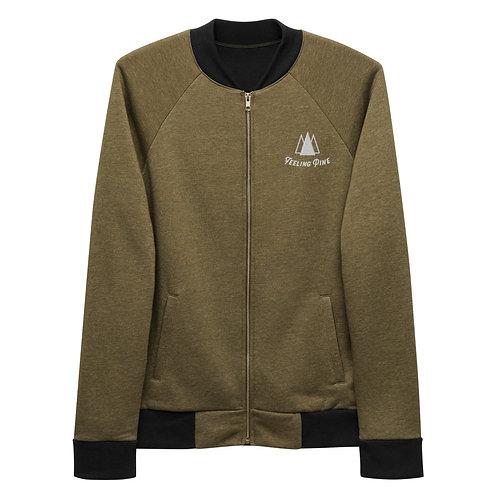 Feeling Pine Detail Bomber Jacket