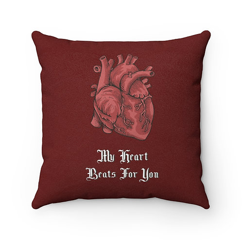 My Heart Beats for You Pillow