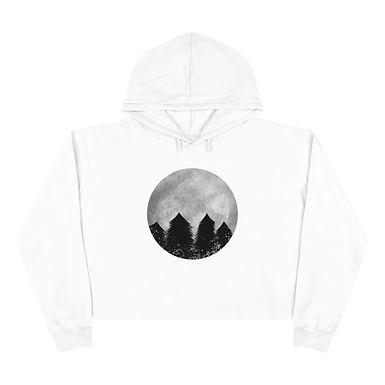 Lunar Forest Crop Hoodie