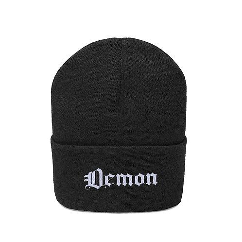 Demon Embroidered Beanie