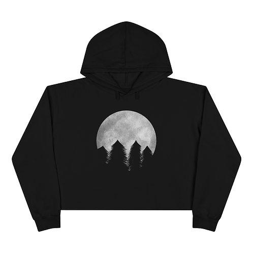 Lunar Forest Black Crop Hoodie