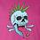Thumbnail: Punk Neon Skull Pink Tee