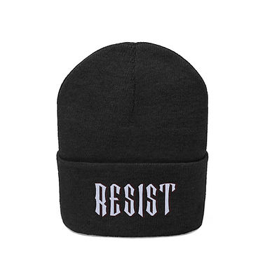 Resist Embroidered Beanie