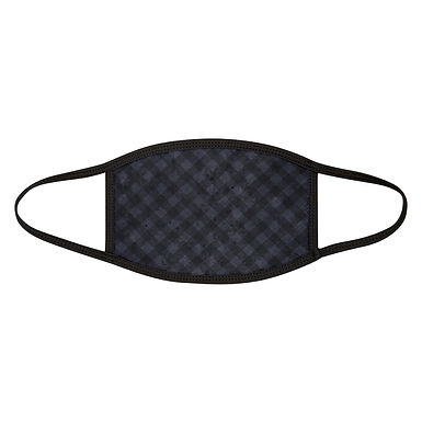Grunge Blue Plaid Mask