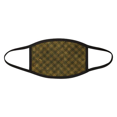 Grunge Yellow Plaid Mask