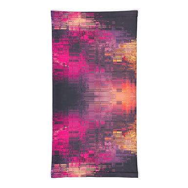 Purple Yellow Pink Digital Pattern Neck Gaiter