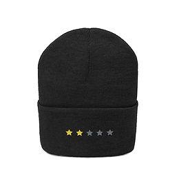 2/5 Stars Embroidered Beanie