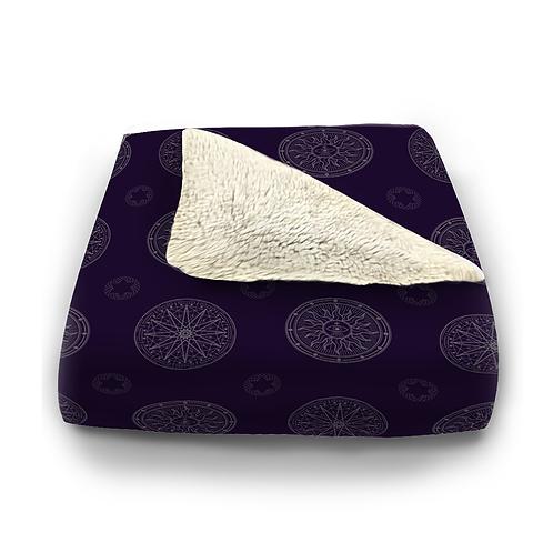 Mystic Geometry Plush Blanket