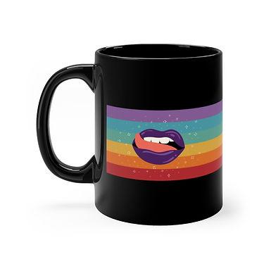 Taste the Rainbow Black Mug