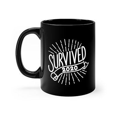 I Survived 2020 Black Mug