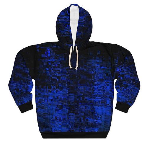 Blue Cyberpunk Pullover Hoodie
