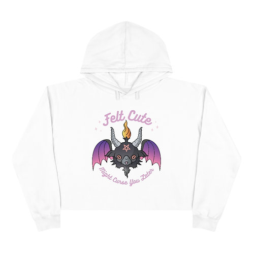 Might Curse You Later Crop Hoodie