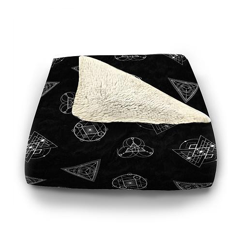 Sacred Geometry Plush Blanket
